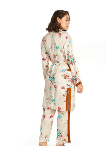 Dreaming in Satin Robe and Pant Set