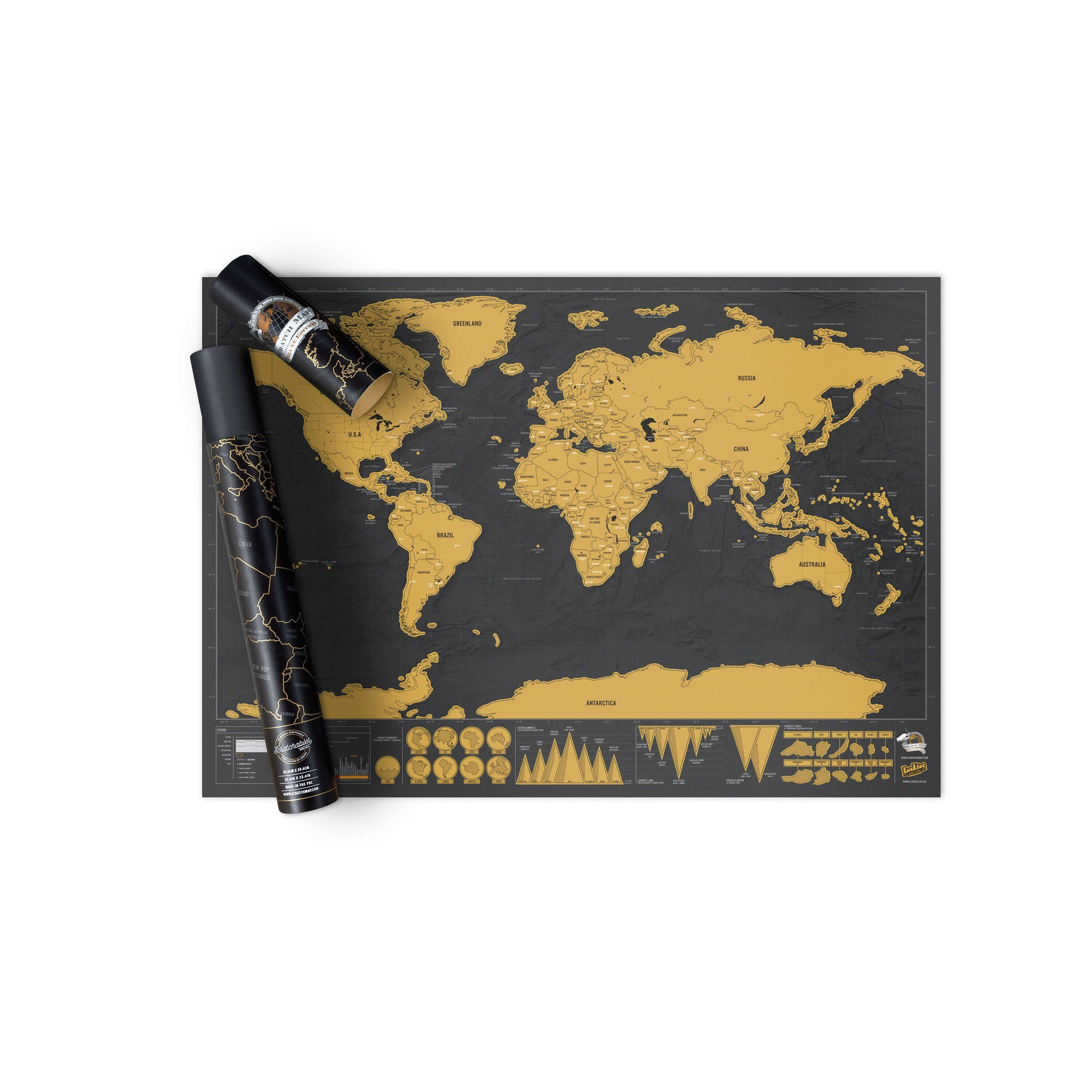 Scratchoff World Map Deluxe Create Your Own Travel Map Round - Create your own travel map