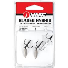 Bladed Hybrid Short Shank Treble (2pcs)