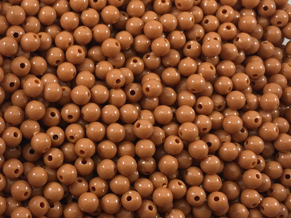 Opaque Brown Beads