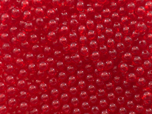 Transparent Red Beads