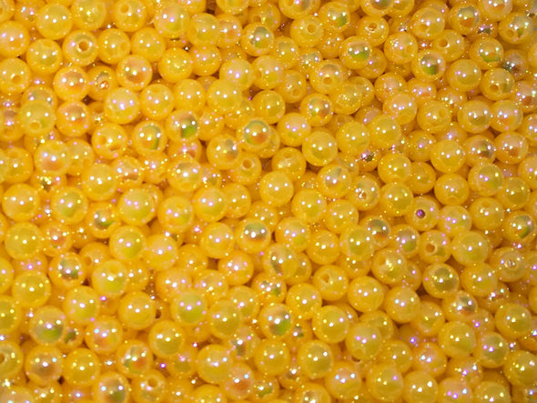 Pearl Opaque Yellow Beads