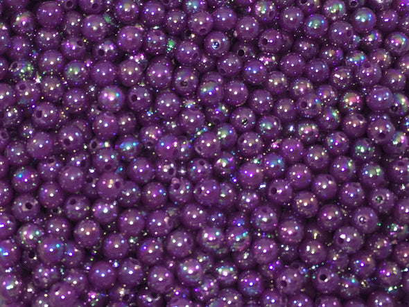 Pearl Opaque Purple Beads