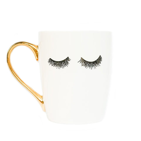 Gold Eyelashes Coffee Mug
