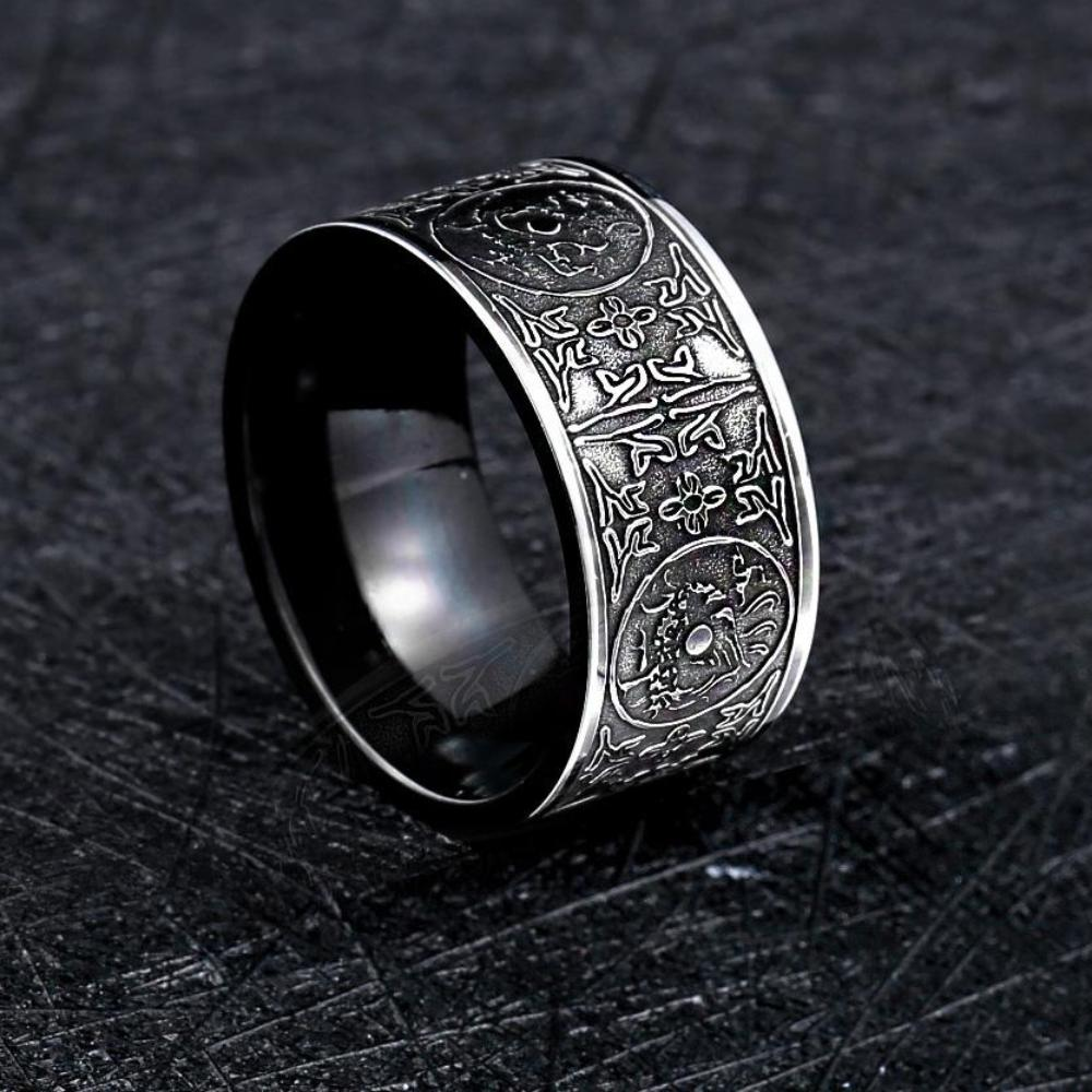 Stainless Steel Gothic Dragon Vintage Ring