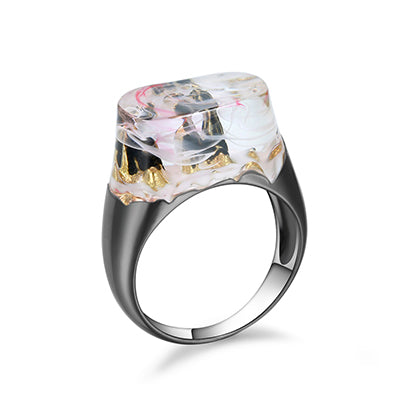 Rocky Mountains Resin Ring