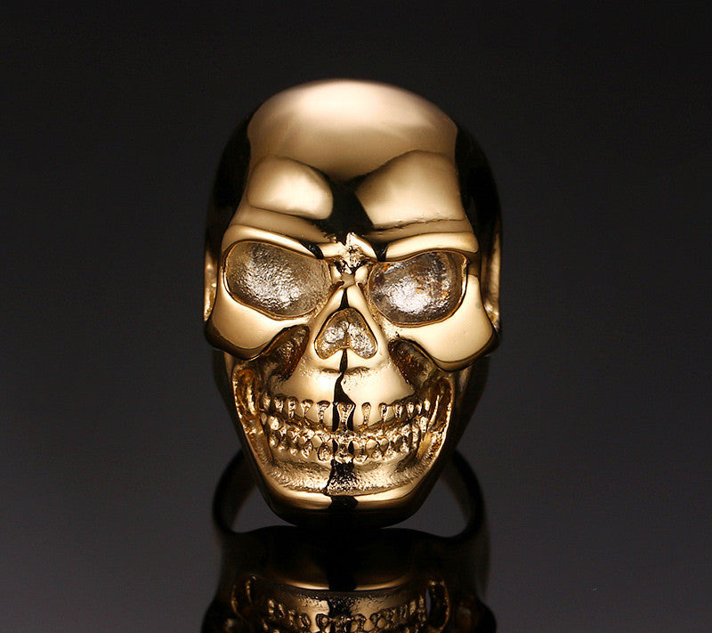 Skull Head Stainless Steel Ring