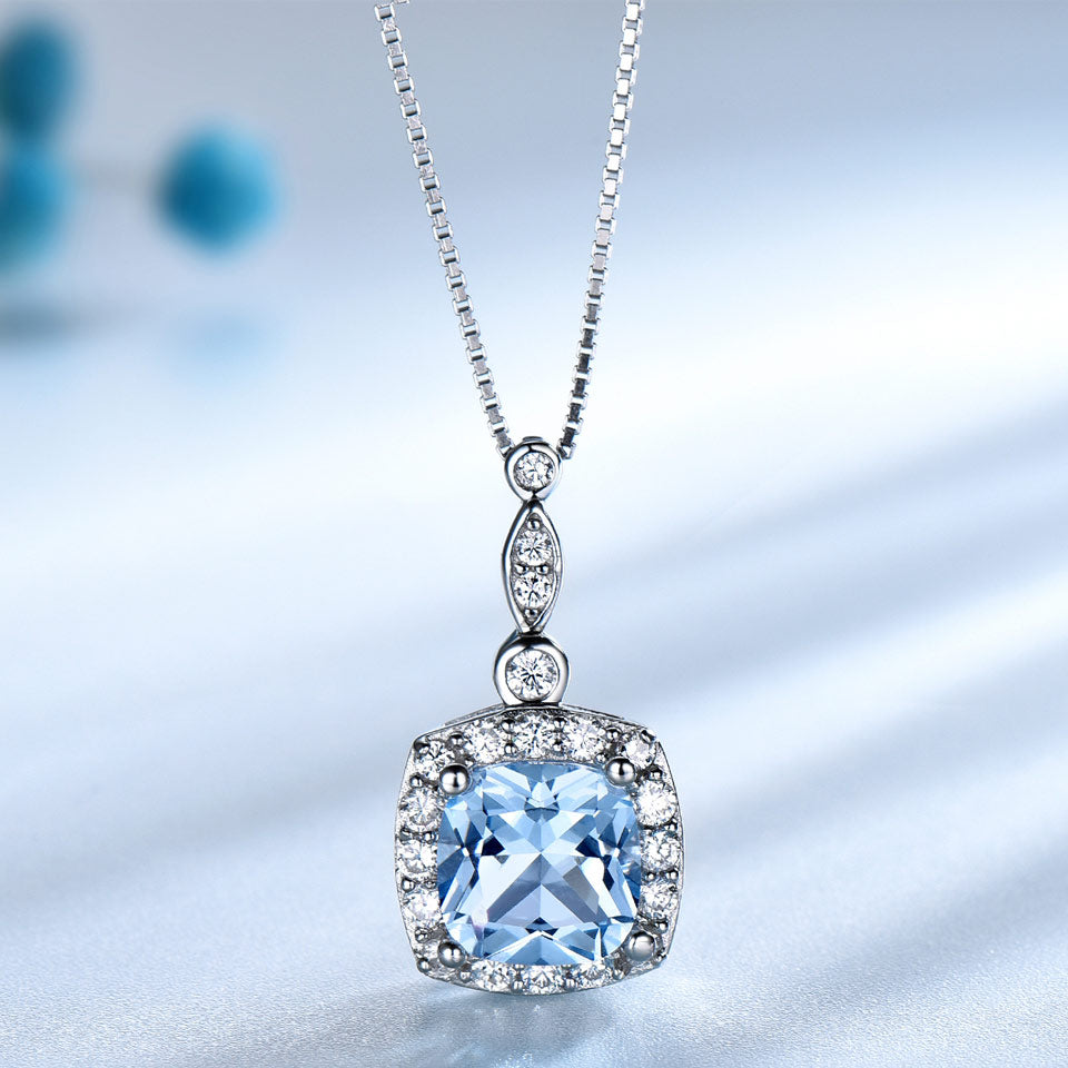 Sky Blue Topaz and 925 Sterling Silver Jewelry Set