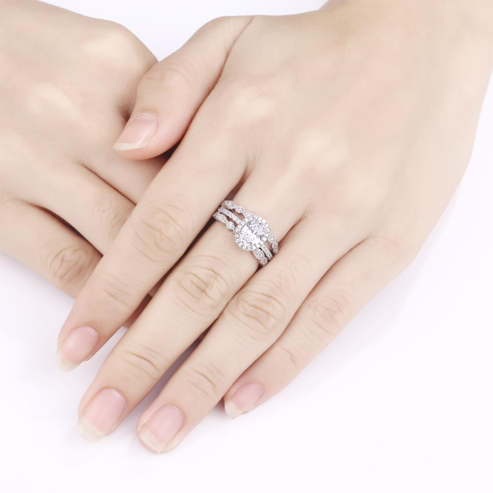 3 Piece 925 Sterling Silver Stackable Crown Ring