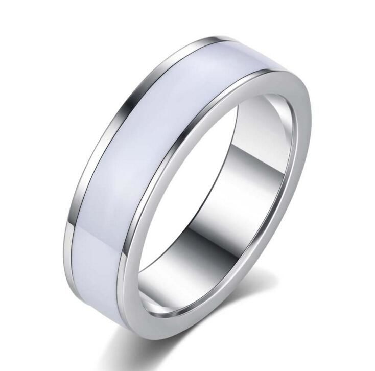 Stainless Steel White Ring