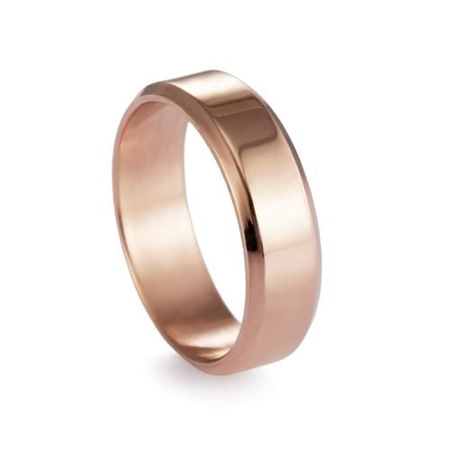 Titanium Brushed Stainless Steel Ring 11 / Rose Gold