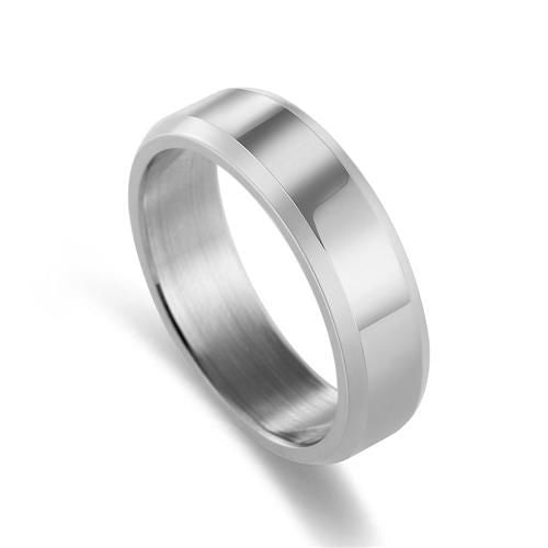 Titanium Brushed Stainless Steel Ring 11 / Silver