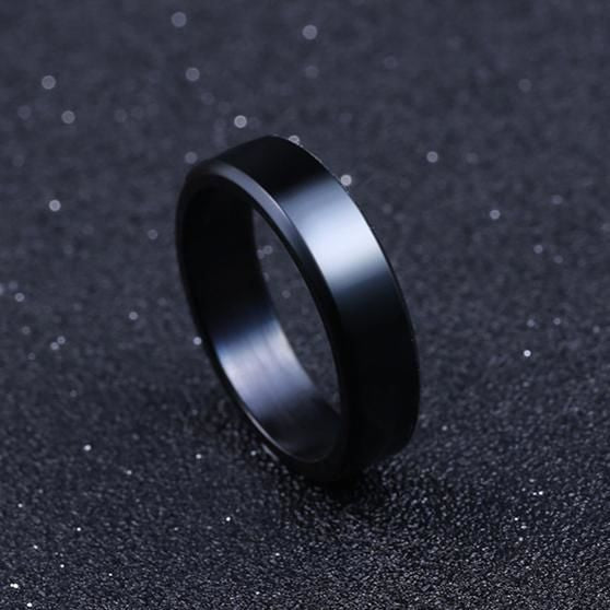 Titanium Brushed Stainless Steel Ring