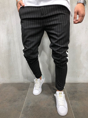 Ankle Pants Streetwear Striped 3901