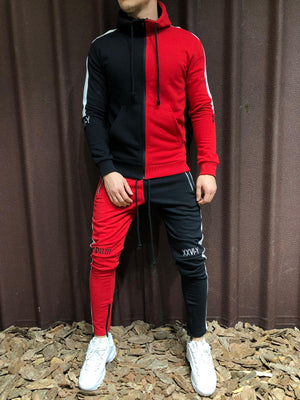 Color Block Tracksuit 100% Cotton 4249