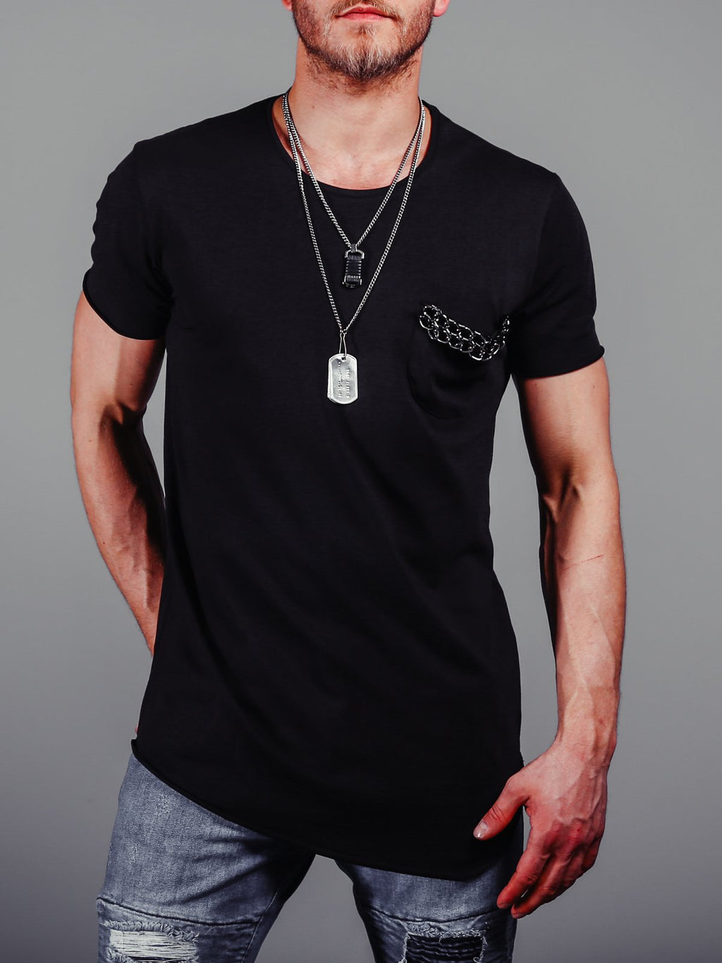 Extended Basic T-Shirt Chest Pocket 4271