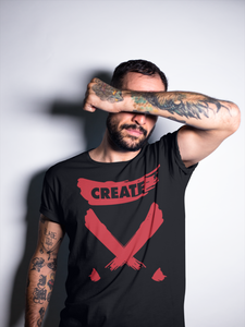 Create! Black & Red Tee