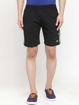 Ben Martin Men Black Solid Regular Fit Regular Shorts