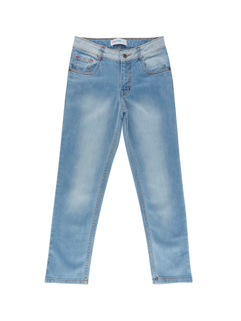 POPPERS by Pantaloons Boys Blue Tapered Fit Mid-Rise Clean Look Jeans