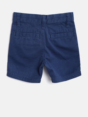 United Colors of Benetton Boys Navy Solid Regular Fit Shorts