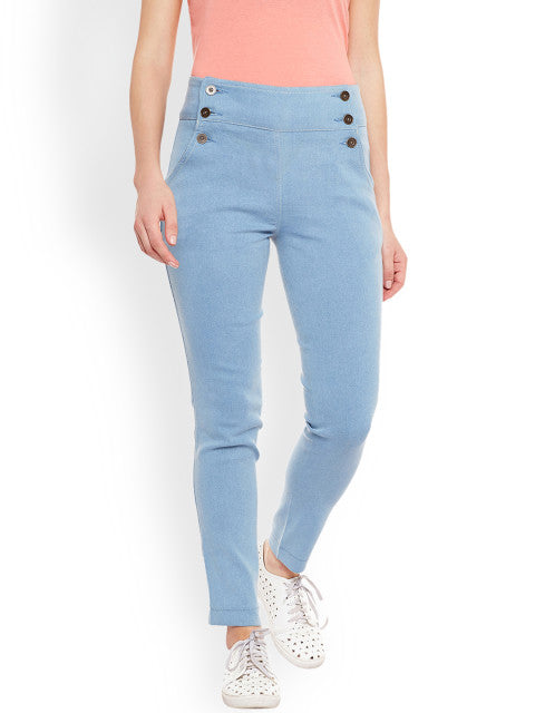 Rider Republic Women Blue Slim Fit High-Rise Clean Look Jeans