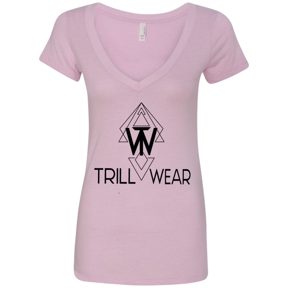 OG Trill Wear Logo Ladies' Deep V-Neck T-Shirt