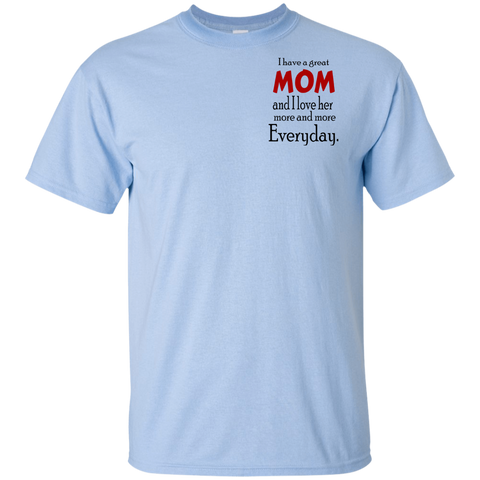 I Love Mom Youth Ultra Cotton T-Shirt