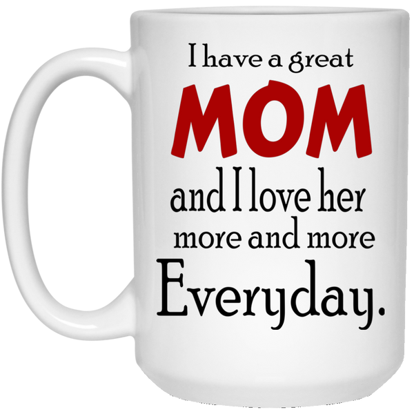 I Love MoM  15 oz.  Mug