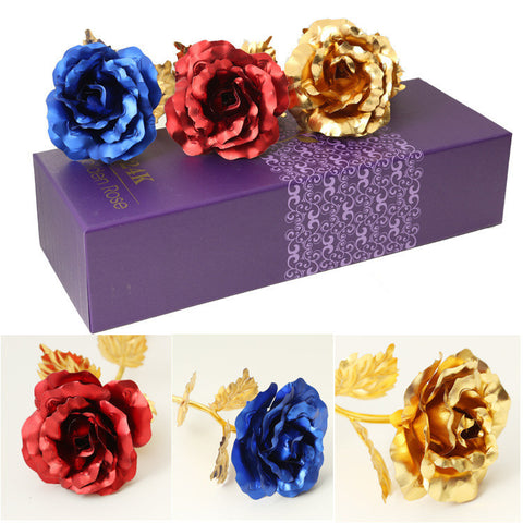 Foil Plated Gold Rose Gift - Mothers Day Special