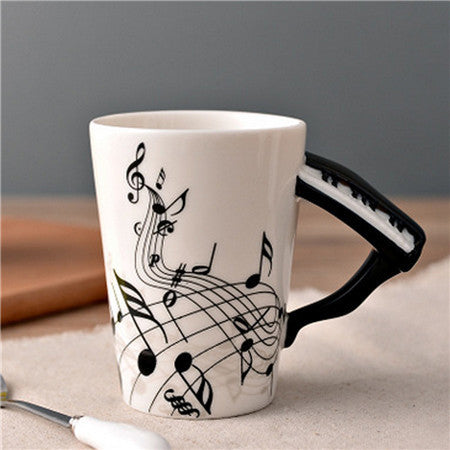Musical Keyboard Ceramic Cup - cuteandfashions