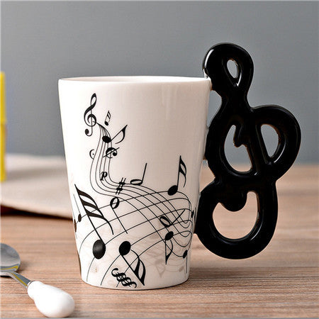 Musical Note Symbol Ceramic Cup Design 2 - cuteandfashions