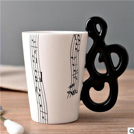 Musical Note Symbol Ceramic Cup - cuteandfashions
