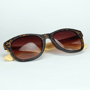 Classic Sunglasses Stereoscopic Woodgrain Effects Frame And Natural Bamboo Legs - cuteandfashions