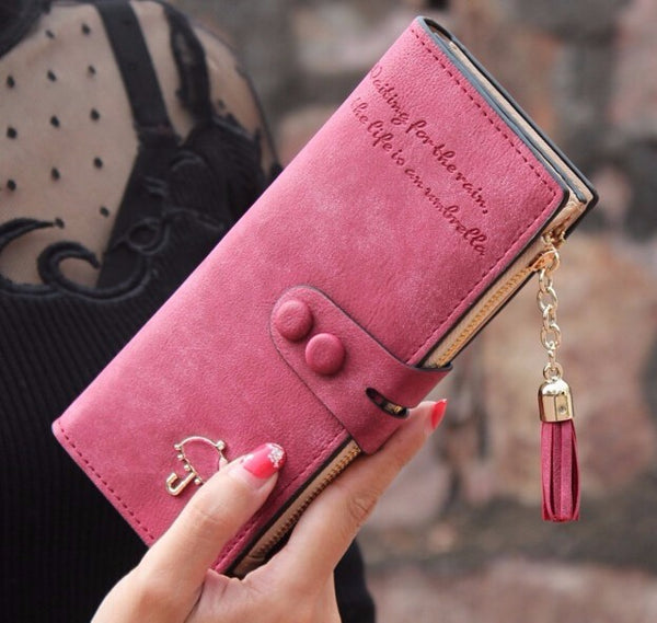 PU leather bags ID card holders women wallet - cuteandfashions