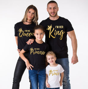 Father King Mother Queen Daughter Princess Son Prince T-Shirt
