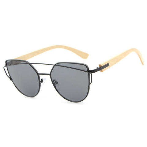 Cat Eye Wood Bamboo Sunglasses - cuteandfashions