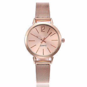 Women's Day Special - Stainless Steel Silver Gold Mesh Quartz Wristwatches - cuteandfashions