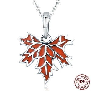 Maple Tree Leaves Pendant Necklace