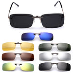 Polarized Clip On Sunglasses Men Driving Night Vision Lens Sun Glasses Male Anti-UVA UVB For Women & Man Oculos