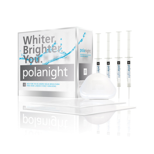 Pola Night Teeth Whitening Bleaching Gel 4 Pack