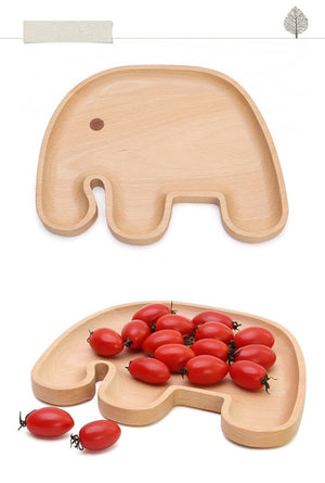 Cute Wooden Dish (3 Compartment)