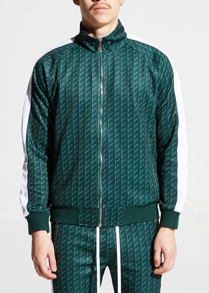 Mack Track Jacket (Forest Green)