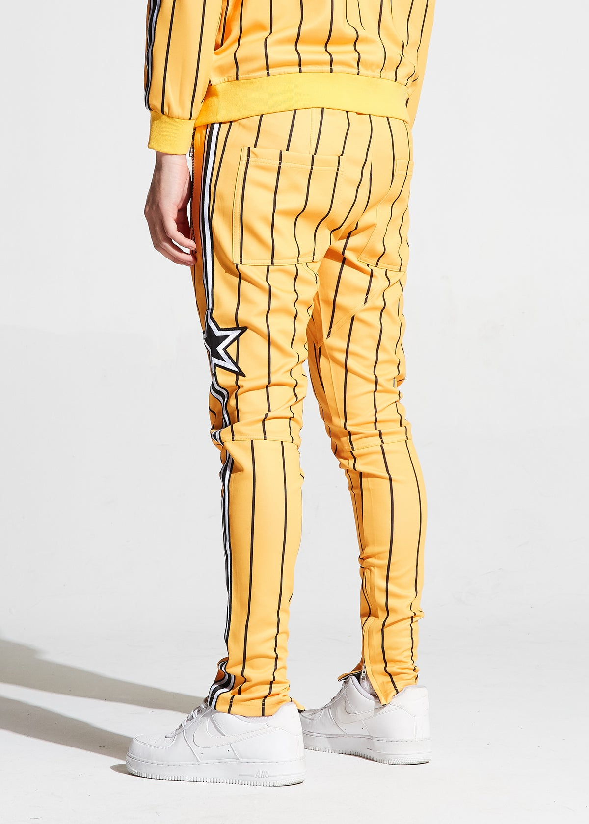 Nyquist Track Pants (Yellow Pinstripes)