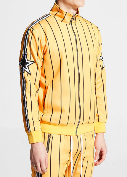 Nyquist Track Jacket (Yellow Pinstripes)