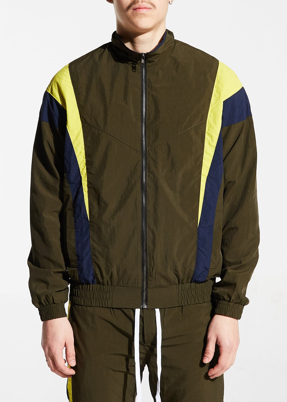 Shelton Windbreaker Jacket (Olive)