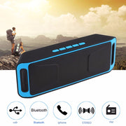 Bluetooth Wireless Speaker Stereo Subwoofer USB FM Radio Built-in Dual Bass Sound Box