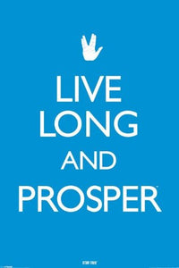 Star Trek Live Long and Prosper Maxi Poster, Multi-Colour