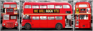 London Bus Panoramic Poster
