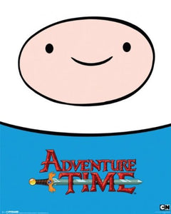 Pyramid International Finn Adventure Time Mini Poster, Plastic/Glass, Multi-Colour, 40 x 50 x 1.3 cm