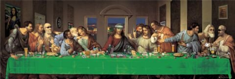 The Last Supper (Spoof Humour) Panoramic Poster